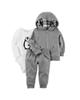 Carters ست 3 تکه لباس پسرانه مدل 848 - طوسی سفید - طرح پنگوئن