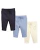 لباس نوزادی - شلوار نوزادی لوپیلو کد B03 مجموعه سه عددی - لیمویی -آبی- سرمه ای