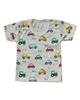 - تی شرت آستین کوتاه نوزادی مدل ماشین - سفید