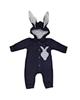 لباس نوزادی - سرهمی نوزادی کد S88 - سرمه ای - طرح خرگوش