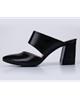 چرم مشهد کفش تابستانی زنانه مدل J2399 - مشکی -چرم طبیعی -پاشنه بلند مجلسی