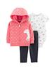 لباس نوزادی - ست 3 تکه لباس نوزادی دخترانه کارترز طرح Unicorn کد M367