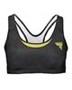 Trec Wear نیم تنه ورزشی زنانه مدل04 -خاکستری تیره زرد - پلی استر - بدون پد