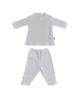 One by One ست تی شرت و شلوار نوزادی مدل 03 - سفید