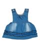 - سارافون نوزادی مدل 125  - آبی - طرح جین
