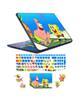 - استیکر لپ تاپ باب اسفنجی کد01برای17 اینچ+برچسب حروف فارسی کیبورد