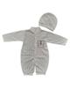 - ست سرهمی و کلاه نوزادی مدل LS 105 - سفید