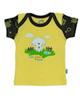 آدمک تی شرت آستین کوتاه نوزادی مدل Sheep - رنگ زرد مشکی