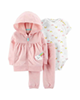 Carters ست 3 تکه لباس نوزادی دخترانه مدل 6094 -گلبهی سفید-طرح رنگین کمان
