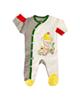 لباس نوزادی - سرهمی نوزادی آدمک طرح اردک کد 02 - چندرنگ