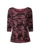 Uncle Sam تی شرت ورزشی زنانه مدل ARM - کالباسی مشکی - طرح دار