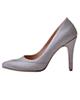 - کفش زنانه مدل 142 - نقره ای - چرم مصنوعی - پاشنه بلند مجلسی