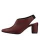 مارال چرم کفش پاشنه بلند زنانه مدل 503 - زرشکی - چرم طبیعی گاوی - مجلسی