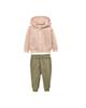 لباس نوزادی - ست سویشرت و شلوار نوزادی لوپیلو کد Z-F078 -صورتی روشن سبز زیتونی