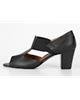 چرمیران کفش تابستانی زنانه مدل یاسمین 2 - مشکی - چرم طبیعی - طرح فلوتر