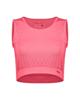 پانیل نیم تنه ورزشی زنانه کد 4055PK - صورتی ساده