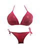 - مایو زنانه گالری تویین مدل Red Bikini کد T571 - سرخابی تیره براق