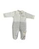 لباس نوزادی - سرهمی نوزادی فلکسی مدل 213190 - سفید طوسی