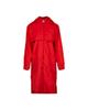 RNS بارانی زنانه کد 109019 - قرمز ساده - زیپ دار - کلاه دار