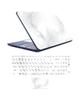 - استیکر لپ تاپ مدلstone 01برای17 اینچی + برچسب حروف فارسی کیبورد