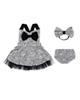 Fiorella ست 3 تکه لباس نوزادی مدل 21026 - طوسی مشکی