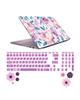 صالسو آرت استیکر لپ تاپ مدل 5002 hk با برچسب حروف فارسی کیبورد - طرح گل