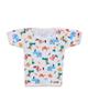 - تی شرت نوزادی پسرانه کد 02 - سفید -طرح حیوانات رنگی -آستین کوتاه