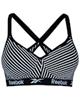 لباس زنانه نیم تنه ورزشی زنانه کد 3288-3 - مشکی راه راه سفید