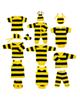 - ست 14 تکه لباس نوزادی مدل زنبور - زرد مشکی