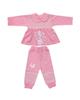 لباس نوزادی - ست تیشرت و شلوار نوزادی دخترانه کد 980908 رنگ صورتی