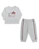 - ست تی شرت و شلوار نوزادی ببتو کد K1867W-R - سفید - آستین بلند