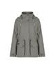 COLUMBIA بارانی زنانه مدل af00215 - خاکستری - کوتاه - کلاه دار