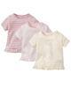 لباس نوزادی - تیشرت نوزادی دخترانه لوپیلو مدل hiw مجموعه 3 عددی - صورتی - شیری