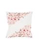 رنگار شاپ کاور کوسن مدل PWKH021 - سفید صورتی - طرح شکوفه