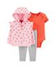 لباس نوزادی - ست 3 تکه لباس نوزادی دخترانه کارترز کد 1318