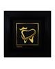 - تابلو طلا کوب زرکات طرح دندانپزشکی مدل F171