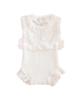 - بادی نوزادی دخترانه مدل 01 - سفید