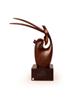 - مجسمه غزال چوبی ساده  قهوه ای تیره مدل 1105900015