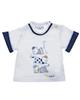 mayoral تی شرت پسرانه مدل MA 188025 - سفید سرمه ای - آستین کوتاه