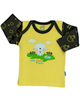آدمک تی شرت آستین بلند نوزادی مدل Sheep - زرد مشکی