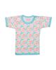 - تی شرت نوزادی کد 03 -سبزآبی -طرح پاپیون رنگی -آستین کوتاه -تریکو