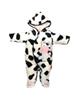لباس نوزادی - سرهمی نوزادی کارترز طرح گاو کد 35623-1 - سفیدمشکی