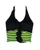 - نیمتنه ورزشی زنانه مدل A02 - مشکی سبز فسفری - پلیاستر