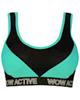 ماییلدا نیم تنه ورزشی زنانه کد 3411-2 - مشکی سبزآبی
