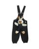 - سرهمی نوزادی مدل LIN1003M - مشکی - خالخالی طرح خرگوش