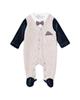 Fiorella سرهمی نوزادی پسرانه مدل ماکان کد 2987 - کرم سرمه ای