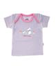 آدمک تی شرت آستین کوتاه نوزادی مدل Little Rabbit - یاسی صورتی