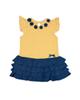 Fiorella پیراهن دخترانه مدل 31017 - زرد سرمه ای - راه راه