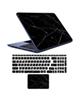 - استیکر لپ تاپ marble کد 02برای17 اینچی + برچسب حروف فارسی کیبورد