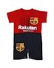 - سرهمی نوزادی پسرانه طرح بارسلونا کد BB02 - قرمز مشکی